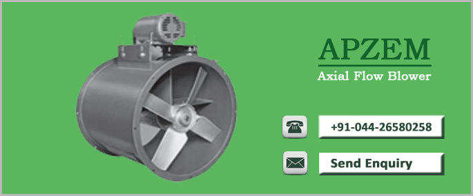 Axial Flow Blower : Axial flow fans exhaust manufacturers apzem india