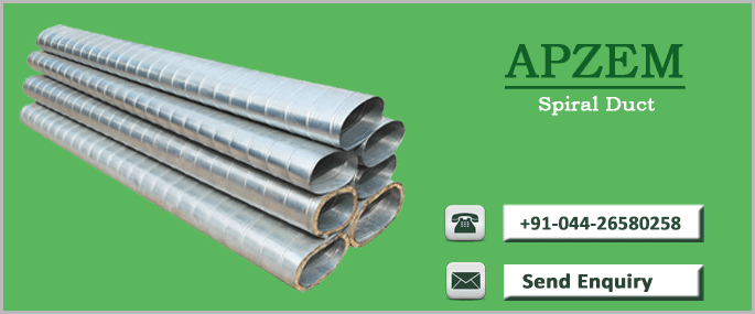 Spiral ducts ducting manufacturers apzem india